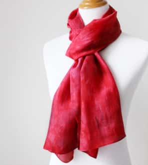 red silk scarf